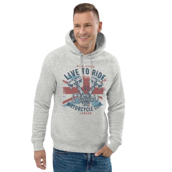 unisex eco hoodie heather grey front 2 609047ae472e0