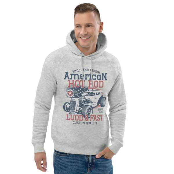 unisex eco hoodie heather grey front 2 60925e8517af1