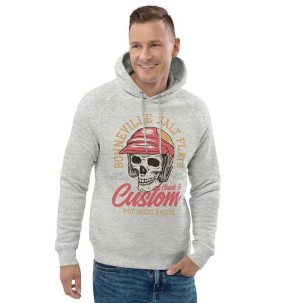 unisex eco hoodie heather grey front 2 609260776839a