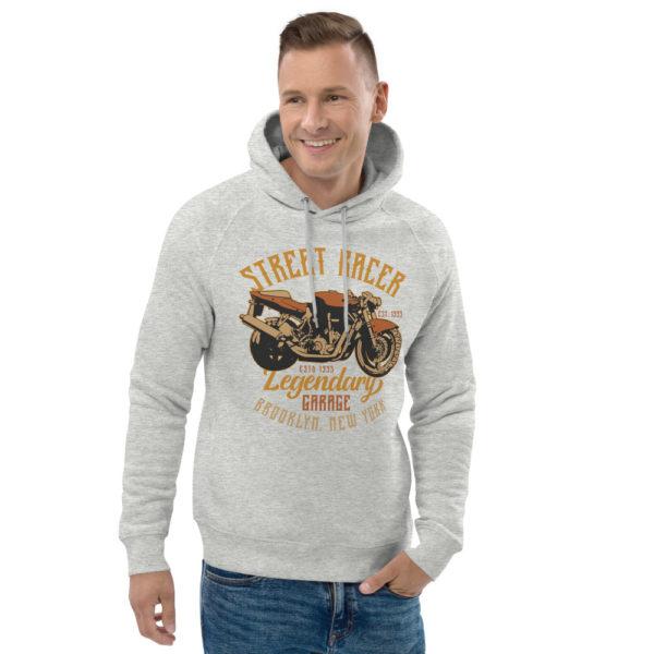 unisex eco hoodie heather grey front 2 6093c2a794b92