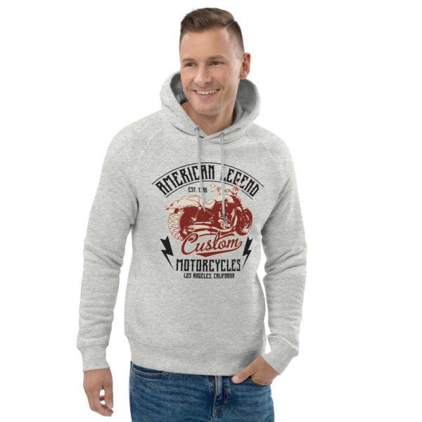 unisex eco hoodie heather grey front 2 6093c37167db8
