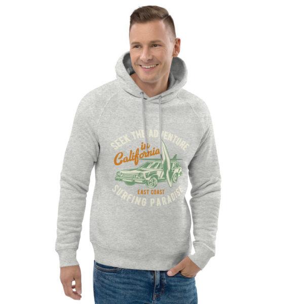 unisex eco hoodie heather grey front 2 609a36475b8ba