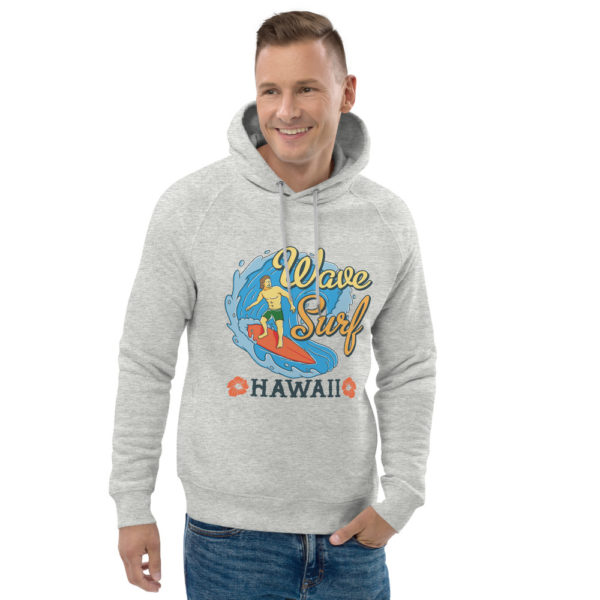 unisex eco hoodie heather grey front 2 609a3bebce3d9