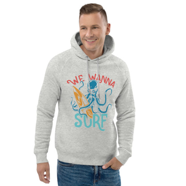 unisex eco hoodie heather grey front 2 609a3e7eb5444