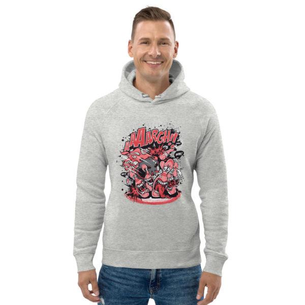 unisex eco hoodie heather grey front 602fd3bf8e002