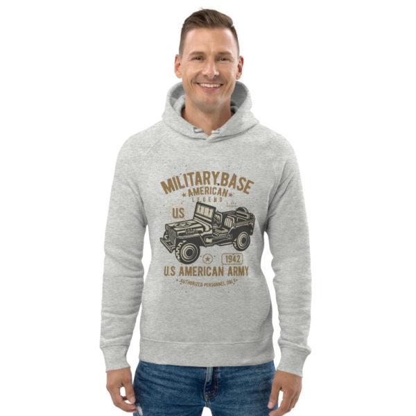 unisex eco hoodie heather grey front 603003f1e75d6