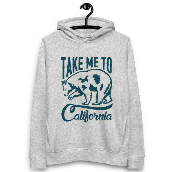 unisex eco hoodie heather grey front 6030f86786b4a