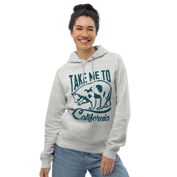 unisex eco hoodie heather grey front 6030f86786c68