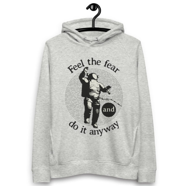 unisex eco hoodie heather grey front 6030fc1a9f8c2