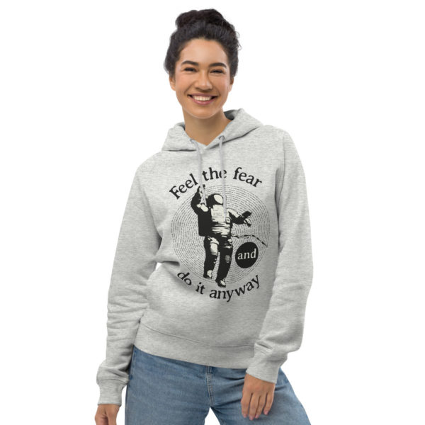 unisex eco hoodie heather grey front 6030fc1a9f956
