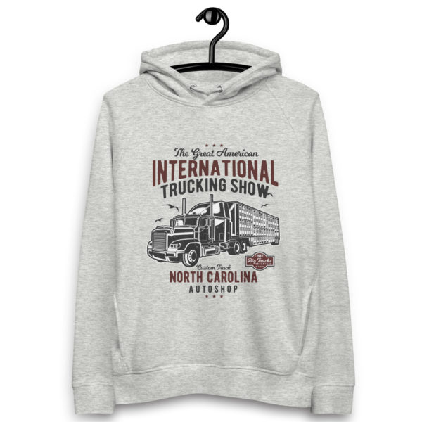 unisex eco hoodie heather grey front 6030fe073a092