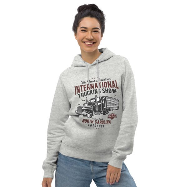 unisex eco hoodie heather grey front 6030fe073a13b