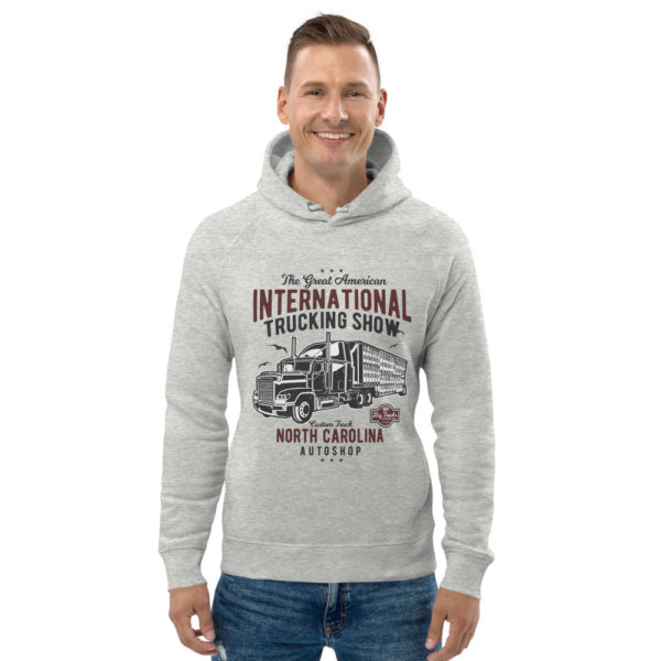 unisex eco hoodie heather grey front 6030fe073a286