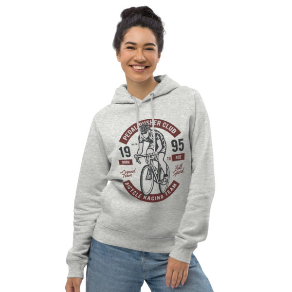 unisex eco hoodie heather grey front 6030ffe5079a9