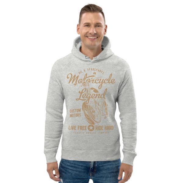 unisex eco hoodie heather grey front 608fcdf47280c