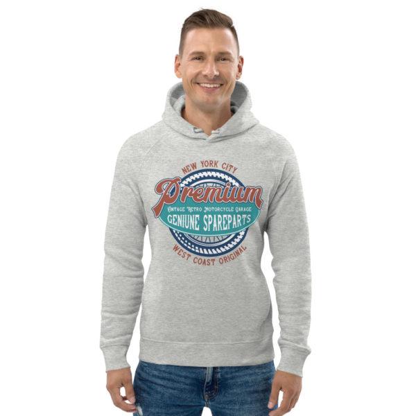 unisex eco hoodie heather grey front 6090465e07778