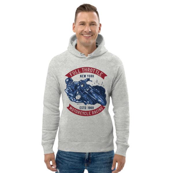 unisex eco hoodie heather grey front 60925c3996110