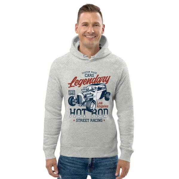 unisex eco hoodie heather grey front 60925dcb617d7