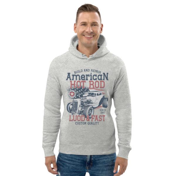 unisex eco hoodie heather grey front 60925e851793c