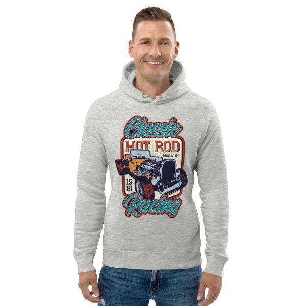 unisex eco hoodie heather grey front 609260256c27a