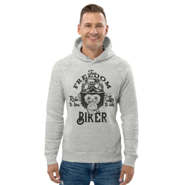unisex eco hoodie heather grey front 60926118d666d