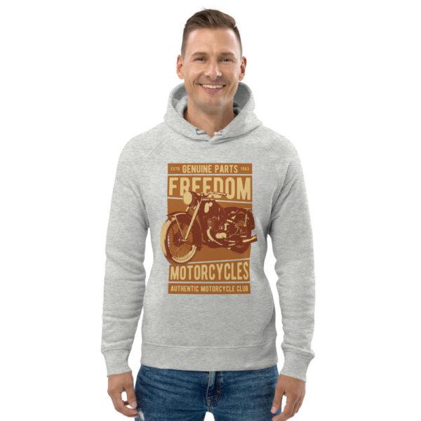 unisex eco hoodie heather grey front 6093bc88dc702