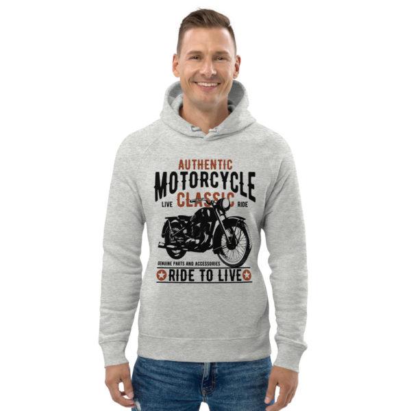 unisex eco hoodie heather grey front 6093bd259cb96