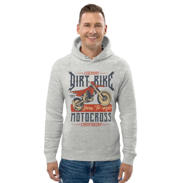 unisex eco hoodie heather grey front 6093c04fcc4ed