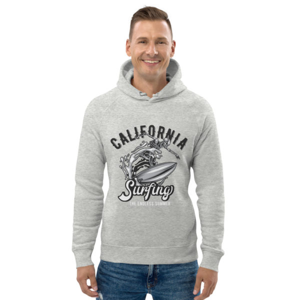 unisex eco hoodie heather grey front 609a3a0478d33