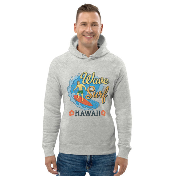 unisex eco hoodie heather grey front 609a3bebce21f