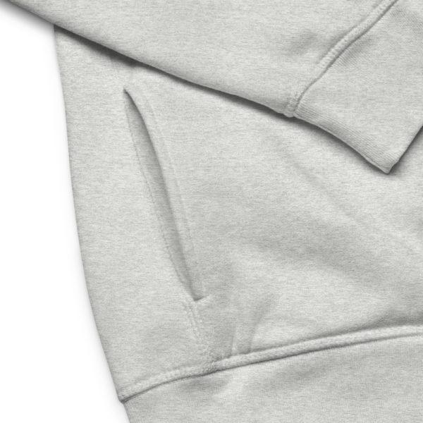 unisex eco hoodie heather grey product details 6030f7779eec0