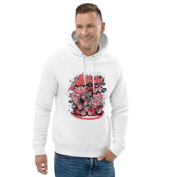 unisex eco hoodie white front 2 602fd3bf8e563