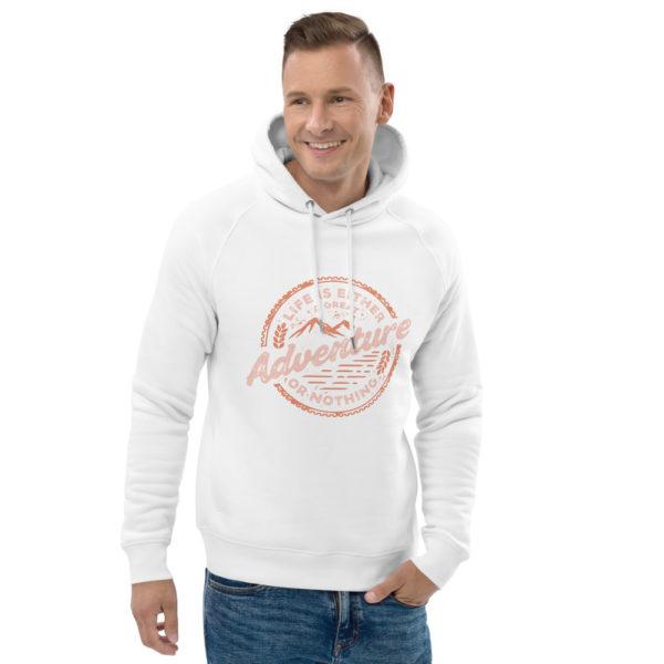 unisex eco hoodie white front 2 602fd4c2ecef7