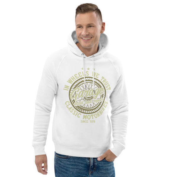 unisex eco hoodie white front 2 609045c4ea1c3
