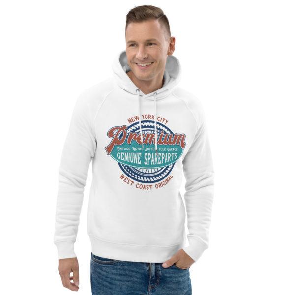 unisex eco hoodie white front 2 6090465e079c9