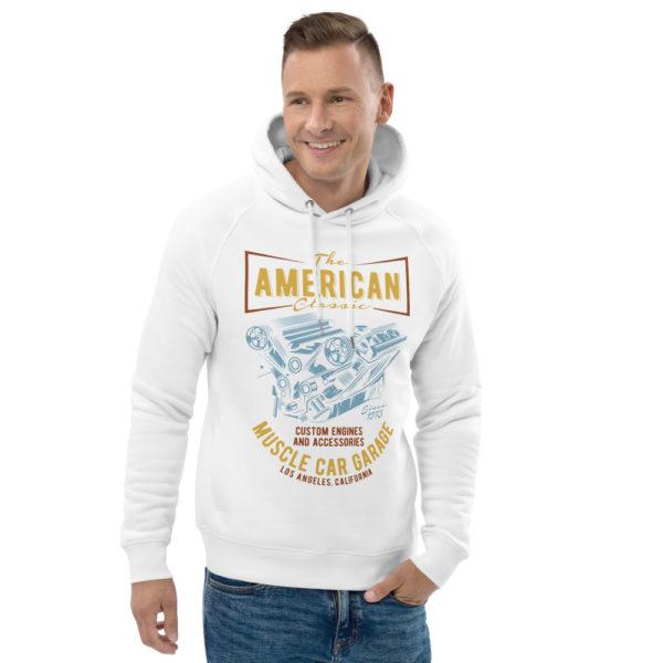 unisex eco hoodie white front 2 609254c13672c