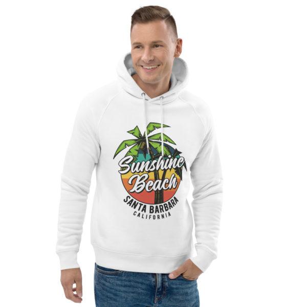 unisex eco hoodie white front 2 609a373437de5