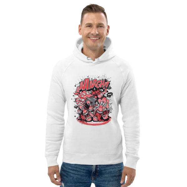 unisex eco hoodie white front 602fd3bf8e32e