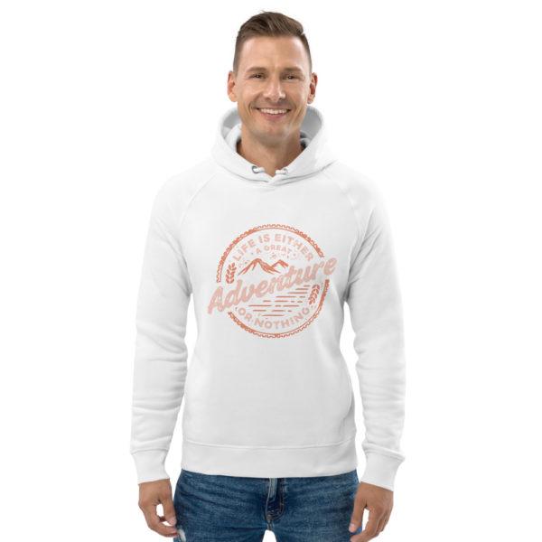 unisex eco hoodie white front 602fd4c2ecca6