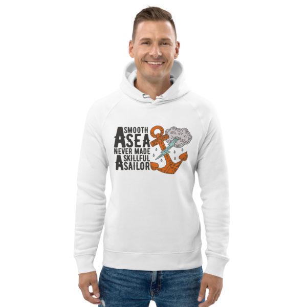 unisex eco hoodie white front 6030f7779ea5c