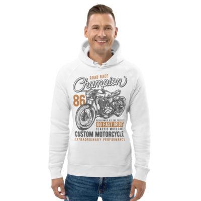 unisex eco hoodie white front 608fd46404306