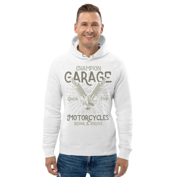 unisex eco hoodie white front 609048c52991f