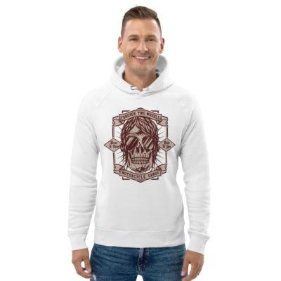 unisex eco hoodie white front 60904bbc66e75