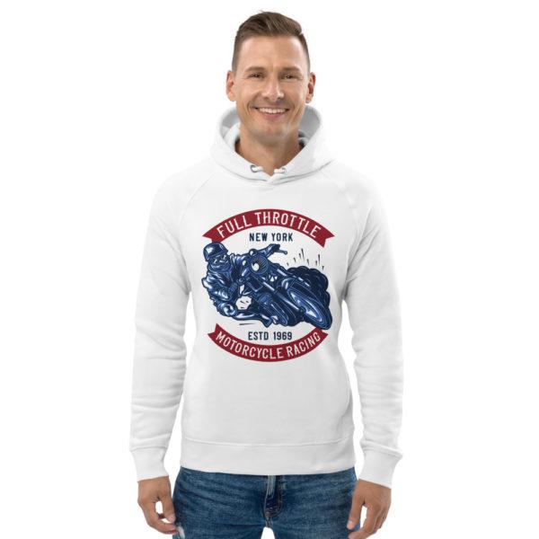 unisex eco hoodie white front 60925c3995da4