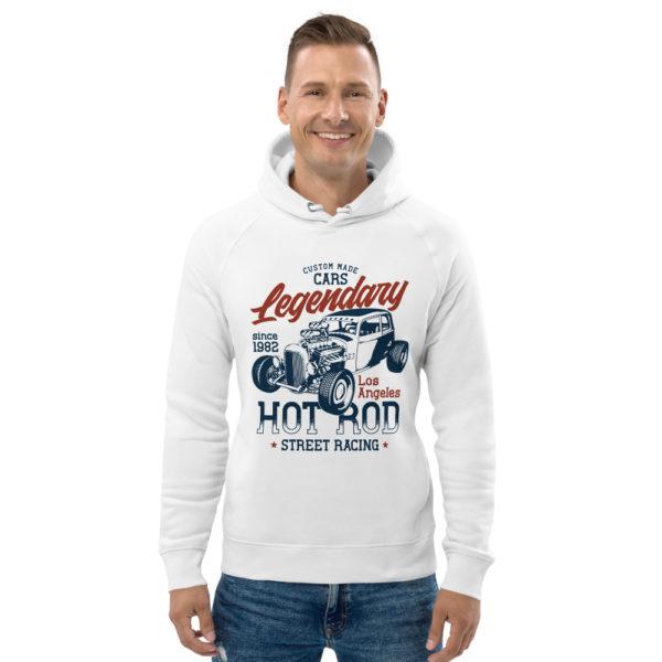 unisex eco hoodie white front 60925dcb612b7