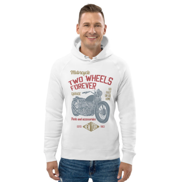 unisex eco hoodie white front 6093bd64eb1e4