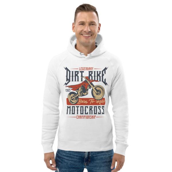 unisex eco hoodie white front 6093c04fcc85b