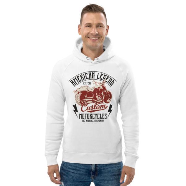unisex eco hoodie white front 6093c37167698