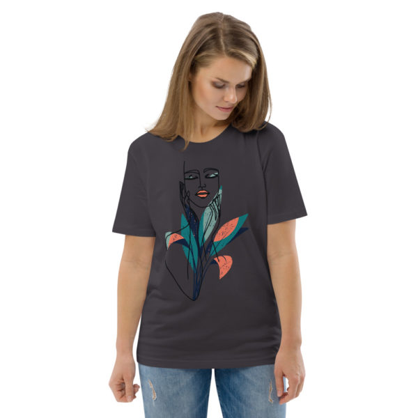 unisex organic cotton t shirt anthracite front 2 6144a9057f3a1