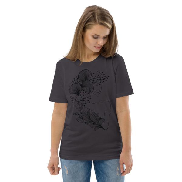 unisex organic cotton t shirt anthracite front 2 614dd21846dd5